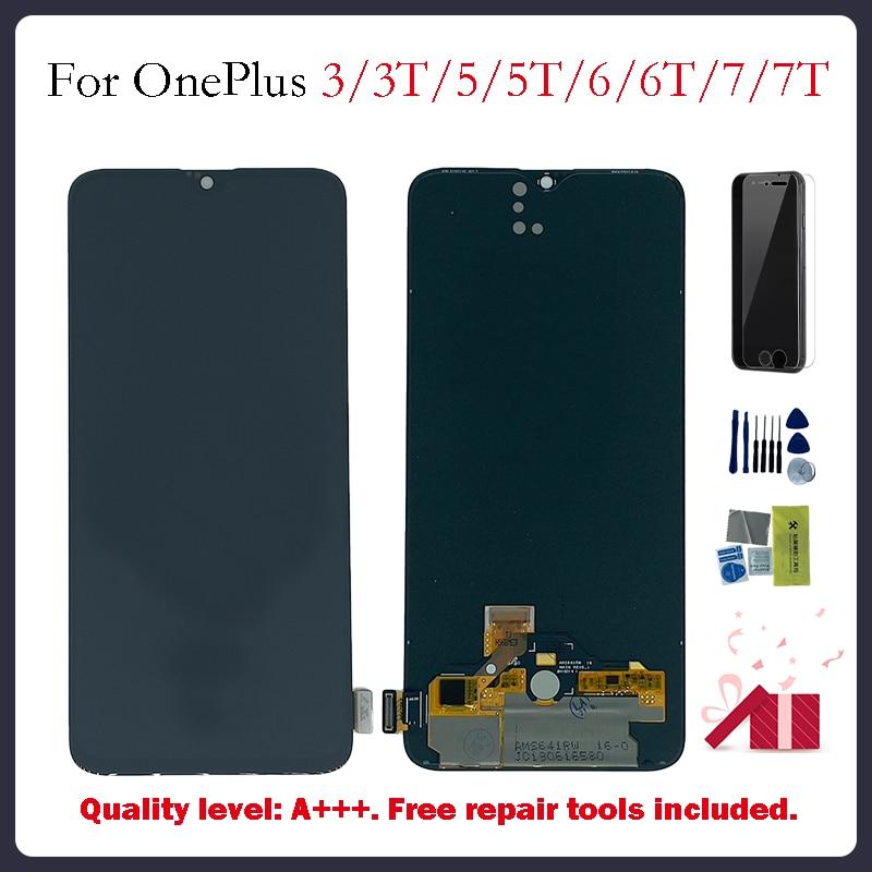 OLED عرض مجموعة المحولات الرقمية لشاشة تعمل بلمس ل oneplus شاشة LCD ل oneplus 3 3T 5 5T 6 6T 7 7T