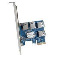 pci e 1 to 4 pci e adapter 16x slots riser card pci e 1x to external 4 pci e slot adapter pcie multiplier card for bitcoin miner