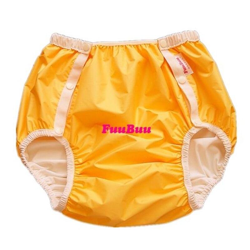 Envío Gratis FuuBuu2214-Yellow-XXL pañal adulto/pantalones de incontinencia/alfombrilla para cambiar pañales/ABDL