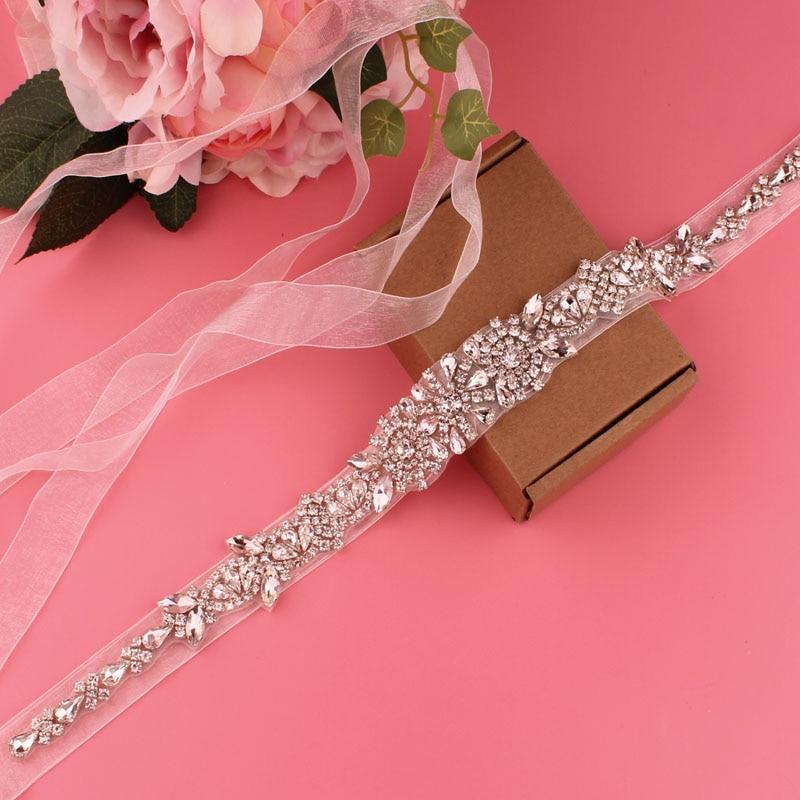 Beige belt transparent color belt bridal wedding belt crystal rhinestone belt women's belt accessories