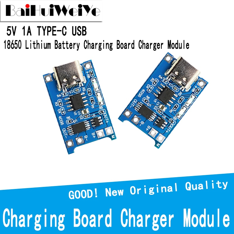 Фото - 10pcs 5V 1A TYPE C USB 18650 Lithium Battery Charging Board Charger Module+Protection Dual Functions TP4056 Module Charging 10pcs 5v 1a type c usb 18650 lithium battery charging board charger module protection dual functions tp4056 module charging