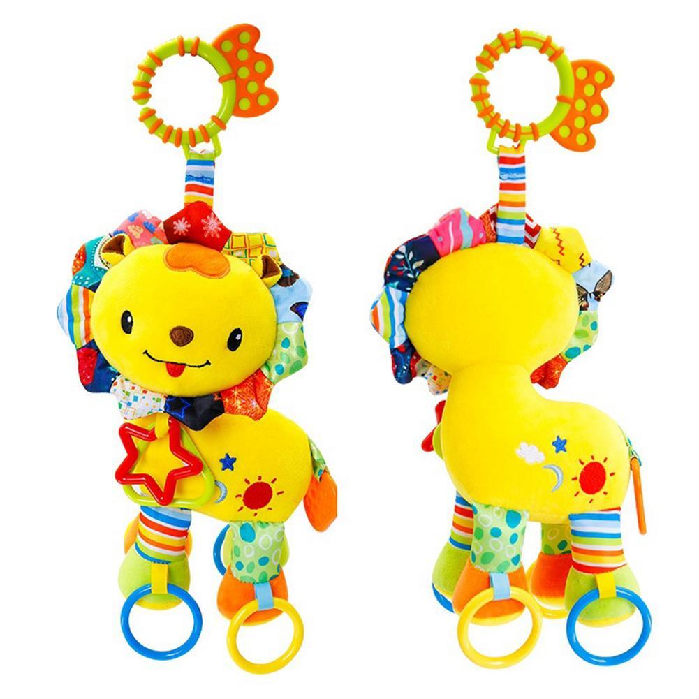Мягкая Плюшевая погремушка с животными для собак, детская развивающая коляска, игрушка для автокресла, детские игрушки для прорезывания зу...
