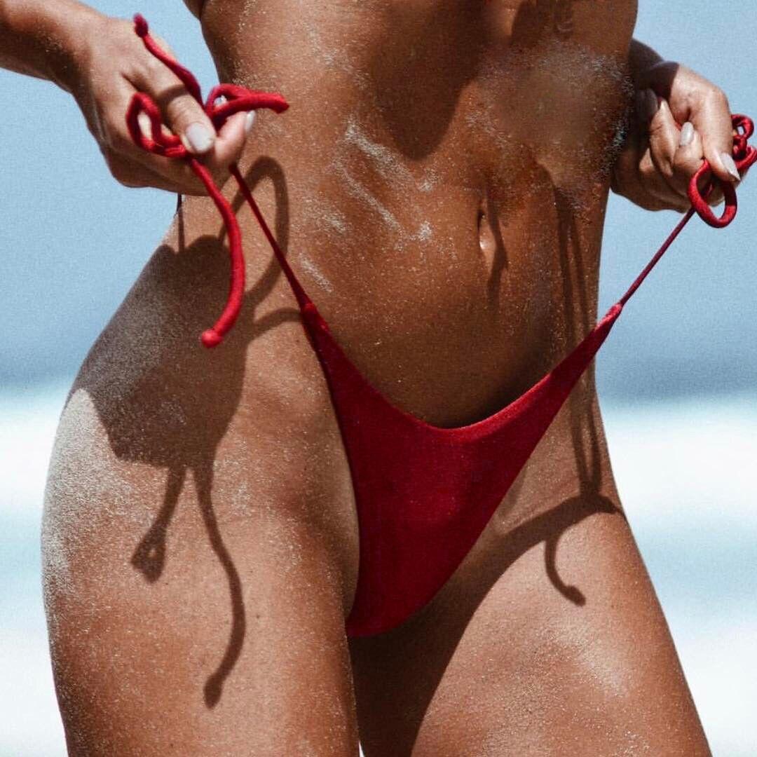 Tanga Bikini Bottoms mujer Top Push Up e traje de baño brasileño descarado G hilo traje de baño playa ropa interior lazo lateral traje