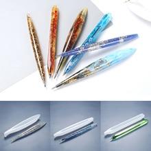 Transparent Handmade Ballpoint Pen Silicone Mold  UV Resin Epoxy Pen Holder Resin Casting Mold Penholder DIY Jewelry Making