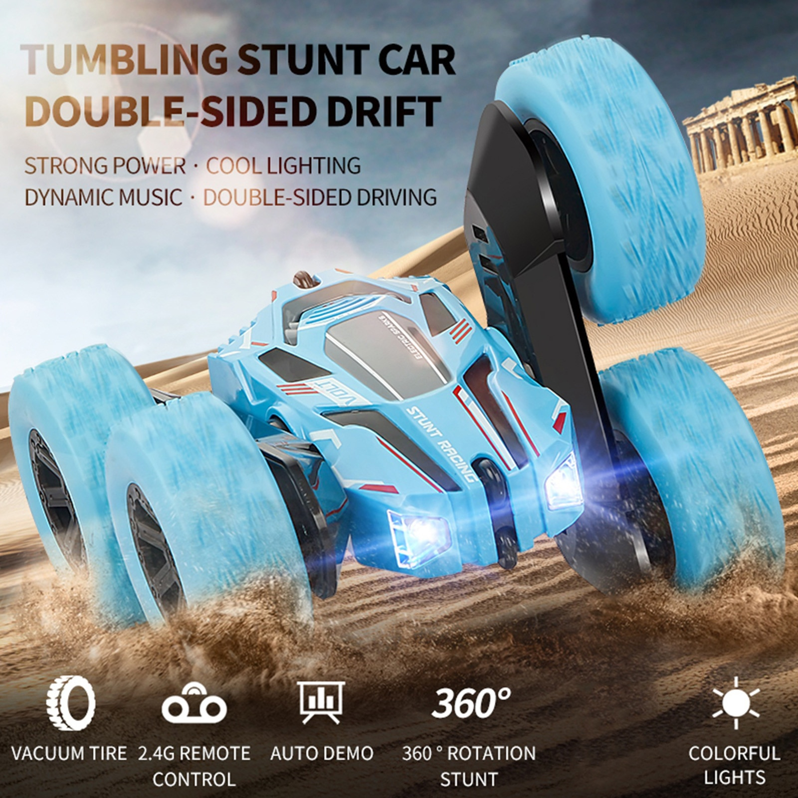 1:28 4WD Double-Sided 360° Tumbling Bucket Remote Control Car High Speed Racing Rc Car Children's Toy Gift for Boys Girls Kids enlarge