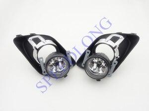 1 Set Front Bumper Driving Fog Lamps Lights w/ Covers Bezels Trim kits for Mitsubishi Outlander 2009-2011
