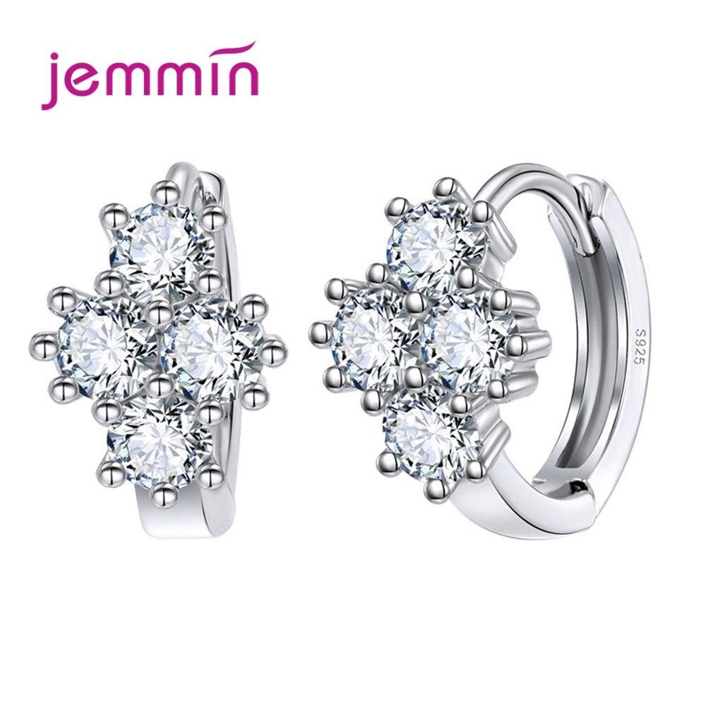 High Quality Cubic Zirconia Hoop Earrings 925 Sterling Silver Earrings For Women New Collection Korean Earrings Fashion Jewelry