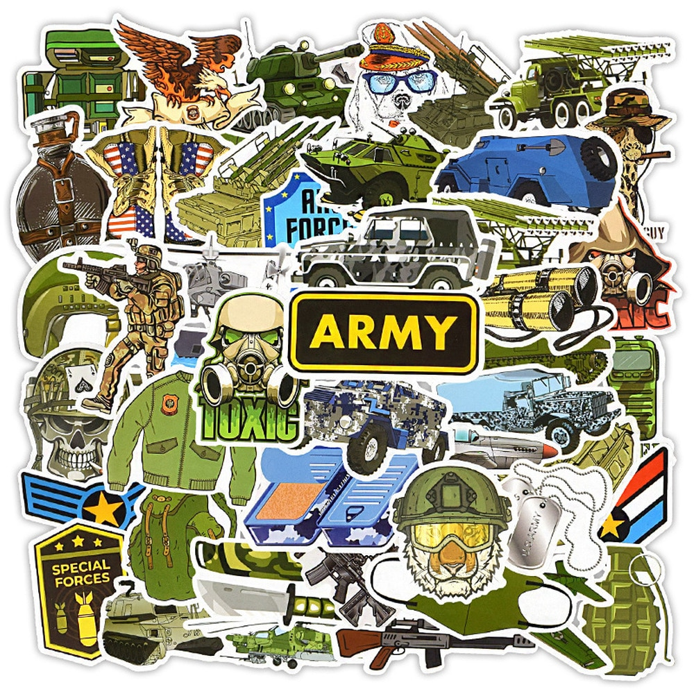 50-pz-lotto-esercito-adesivi-militari-per-car-styling-bici-moto-telefono-laptop-viaggi-bagagli-cool-divertente-adesivo