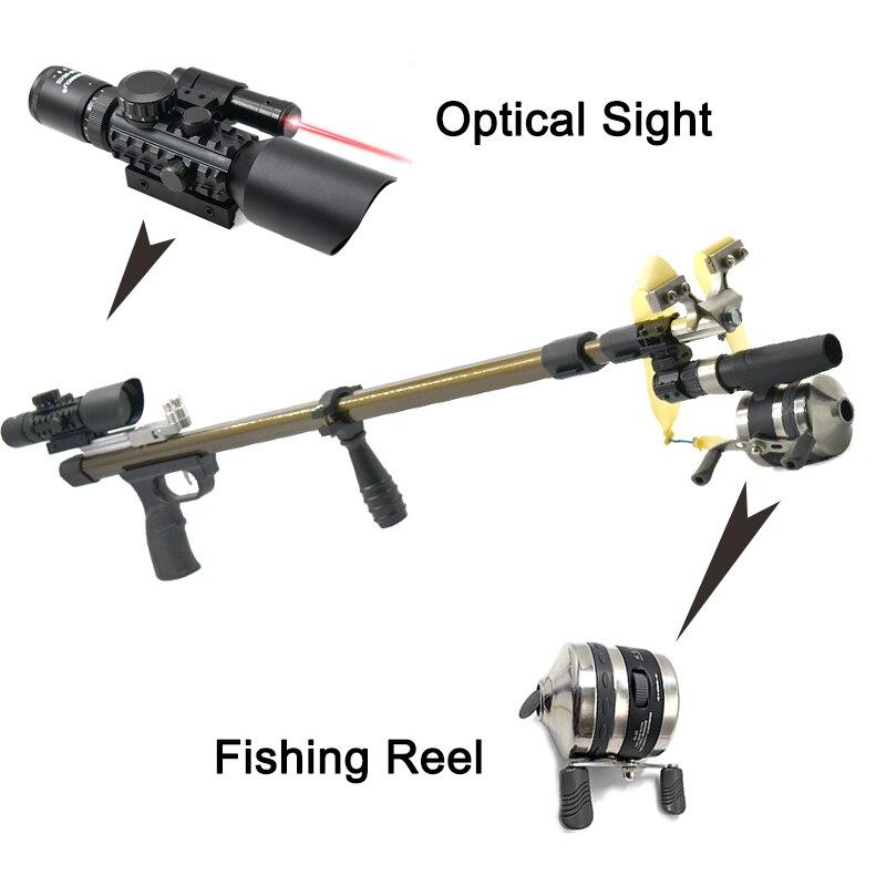 مقلاع تليسكوبية مطورة جديدة مع نطاق احترافي للصيد والصيد في الخارج مقلاع قوي
