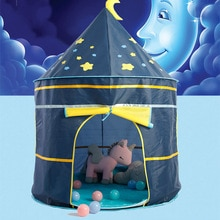 Детская палатка, портативная игровая детская палатка, детский Крытый открытый бассейн с шариками океана, Складные Игрушки, замок, игровой д...