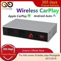sinairyu wireless carplay for jeep renegade 2013 2018 android auto module box video interface mirror link