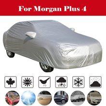 Pleine bâche de voiture intérieur extérieur Auto bâche de voiture s neige glace étanche poussière soleil UV ombre couverture pour toutes les saisons pour Morgan Plus 4
