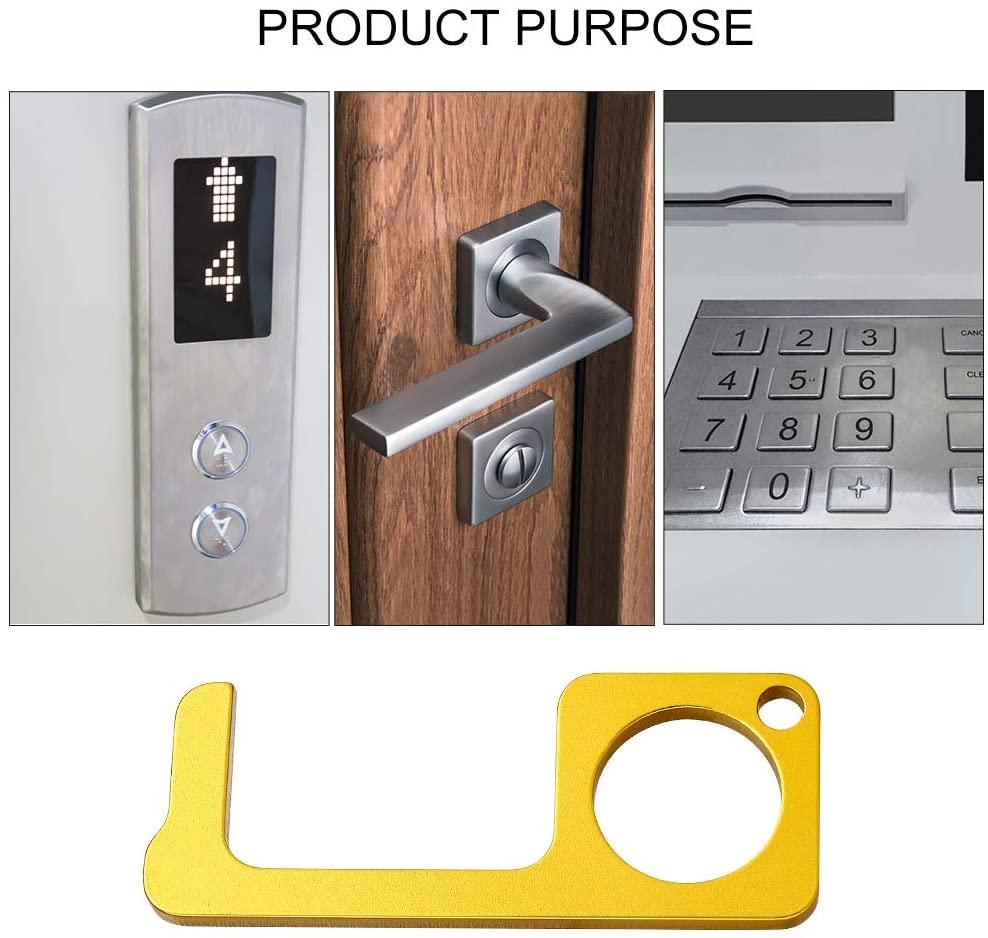 Abridor de puerta de latón-Higiene abridor de puerta de latón palo portátil para empujar el elevador apertura por botón