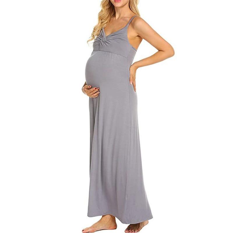 Sling maternity dress willow sling adjustable backless ladies long dress enlarge
