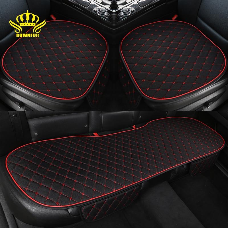 Flax car seat cover universal car seat cushion all season comfortable breathable interior For Toyota Kia Lada Volkswagen Hyundai