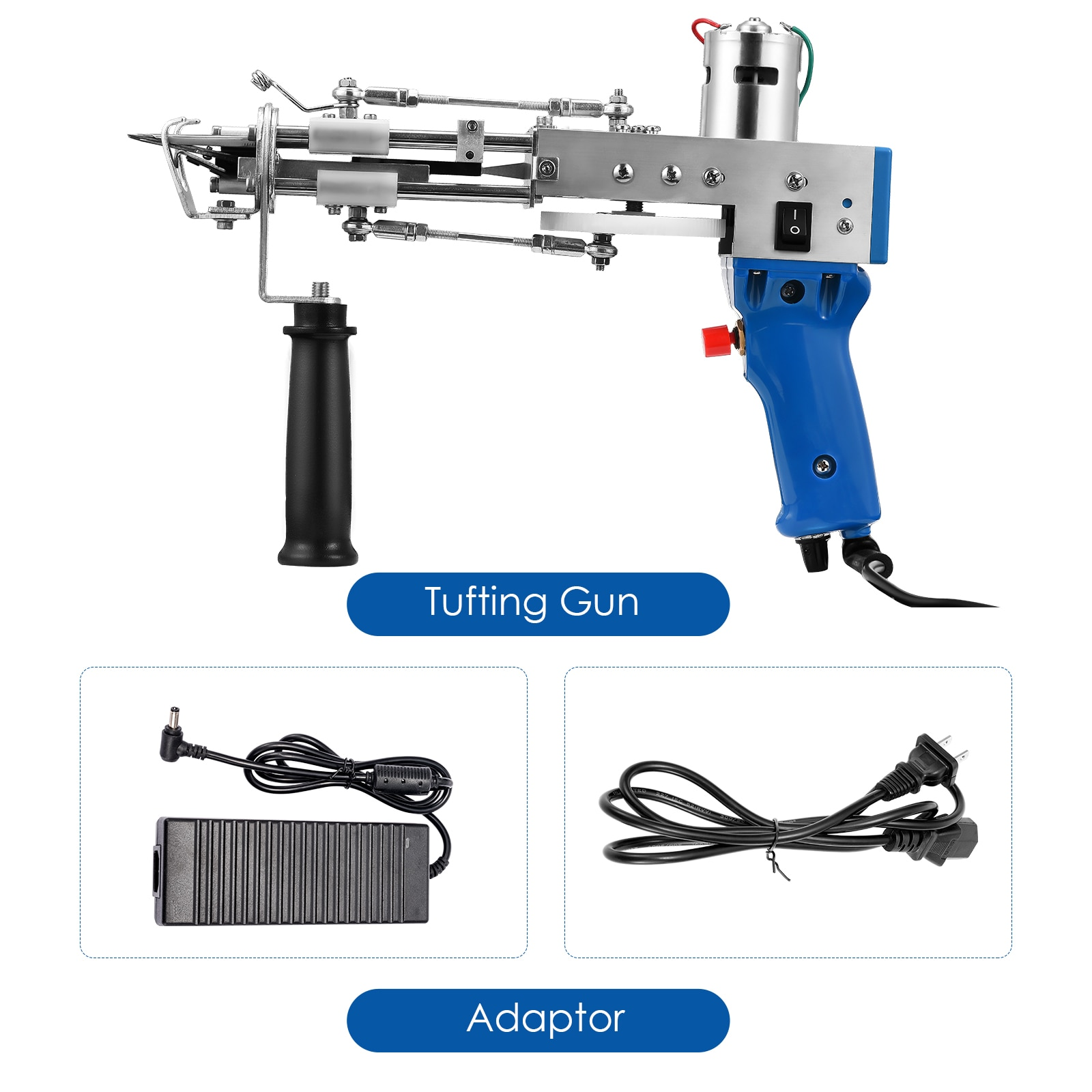 Upgrade 2 In 1 Tufting Gun Both Cut Pile And Loop Pile Electric Carpet Tufting Gun Hand Gun Carpet Weaving Flocking Machines enlarge