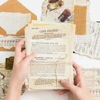 old book seriess scrapbookingcard makingjournaling project diy kraft retro writing paper cards 57 sheets