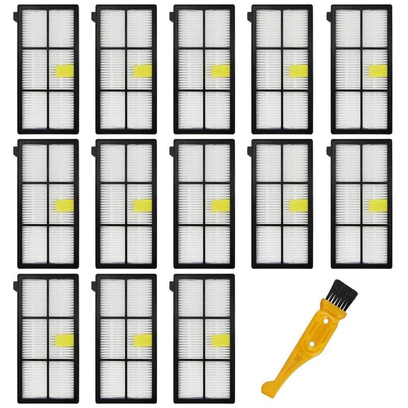 14 pièces Hepa filtres pièces de rechange pour Irobot Roomba 870/800/880/960/980 aspirateur robotique Roomba (série 800 900) accessoires