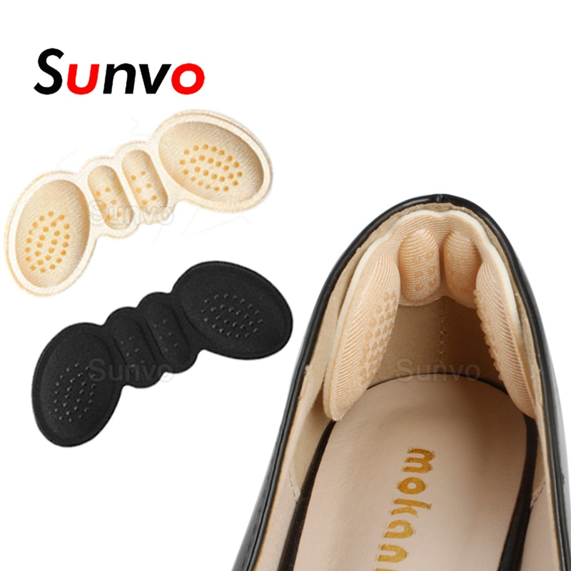 Sunvo Women Insoles for Shoes High Heels Adjust Size Adhesive Heel Liner Grips Protector Sticker Pai