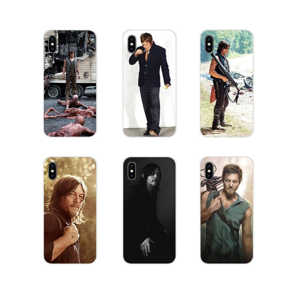 Funda para Samsung A10 A30 A40 A50 A60 A70 Galaxy S2 Note 2 3 Grand Core Prime reedus Daryl Dixon muerto