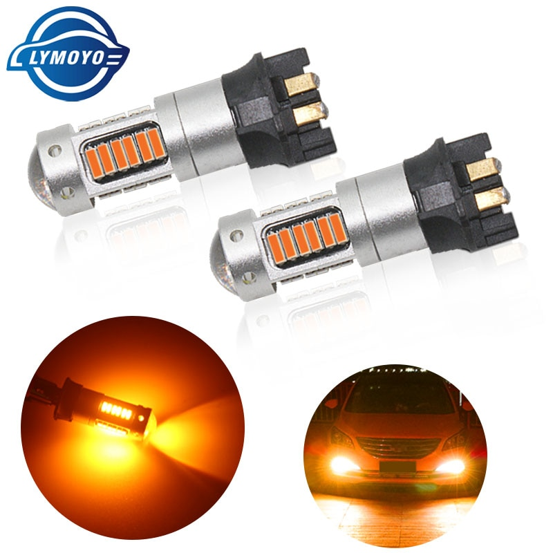 LYMOYO 1pcs רכב PW24W PWY24W 4014 30SMD LED נורות איתות אור בשעות היום ריצת אור לאאודי A3 A4 a5 BMW DRL שגיאת משלוח