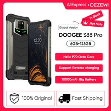 DOOGEE S88 Pro Rugged Support Reverse Charging10000mAh Large Battery Smartphone Helio P70 Octa Core
