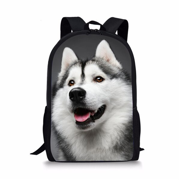 pug dog husky printing backpack for children girls Cute Printing Animal Husky Wolf School Bag for Teenager Boys Girls 3D Kids Schoolbag Preppy Children Bookbag