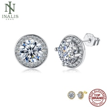 INALIS Vintage Round Shaped Earrings Silver Color Cubic Zirconia Earrings For Women Fashion Jewelry