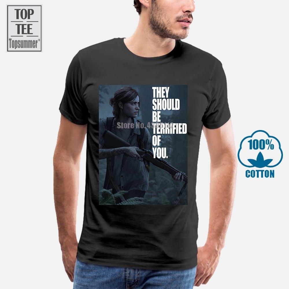 T-Shirt homme, Slim, femme, Ellie le dernier Of Us Part 2, effrayé de vous
