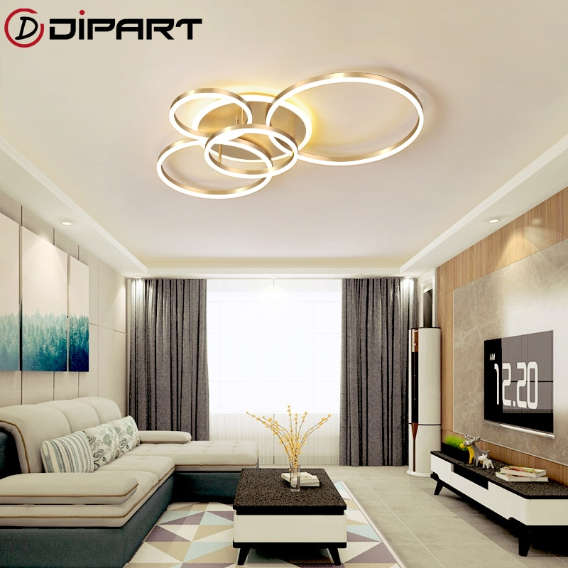 Modern Nordic Led ceiling lights For Living Room Bedroom Dining Room Acrylic Ceiling Lamp Metal Home Indoor Lighting Industrial