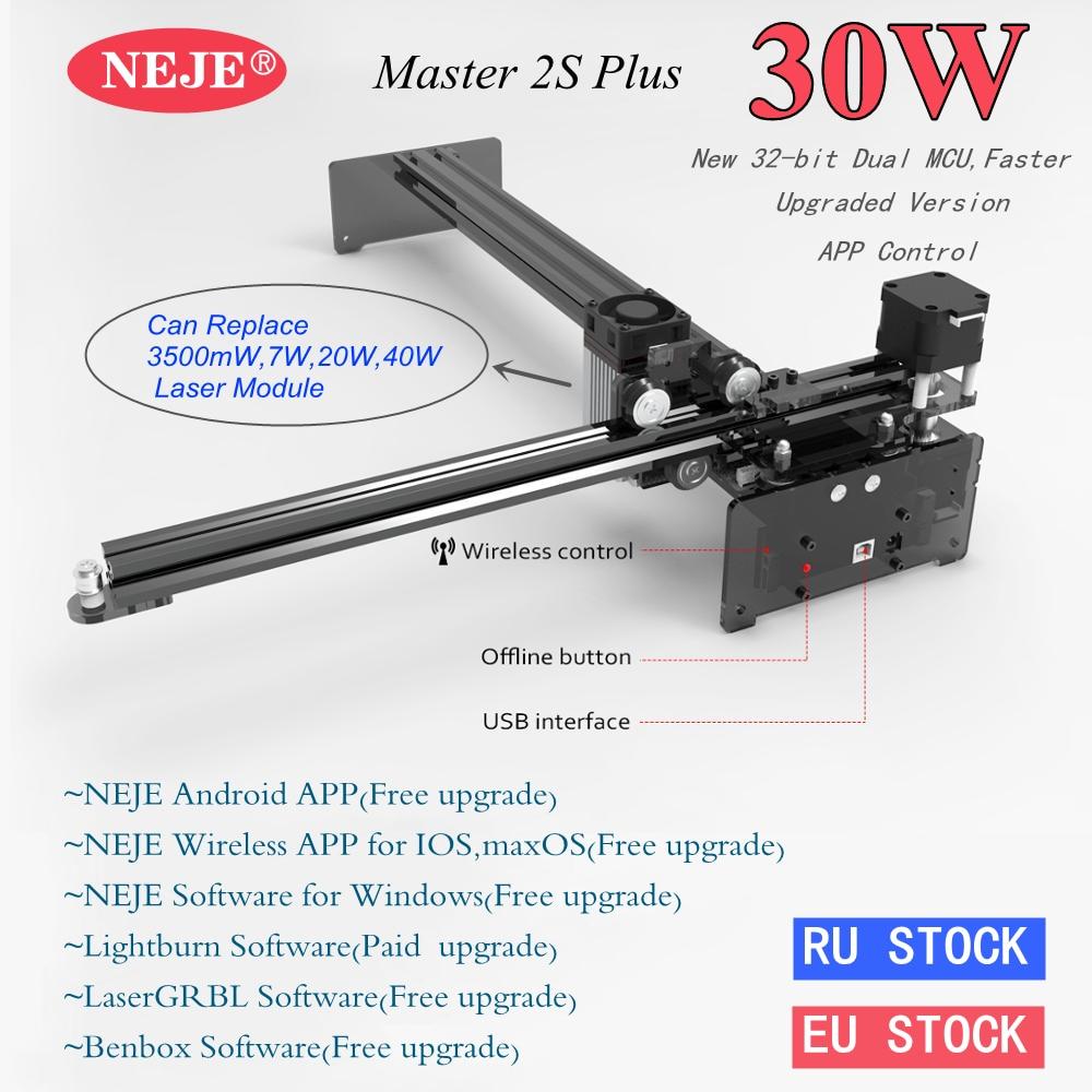 NEJE Master 2s Plus 40Watt/50Watt Large Area CNC Laser Engraver Plywood Metal Laser Engraving Machine with App Control Lightburn