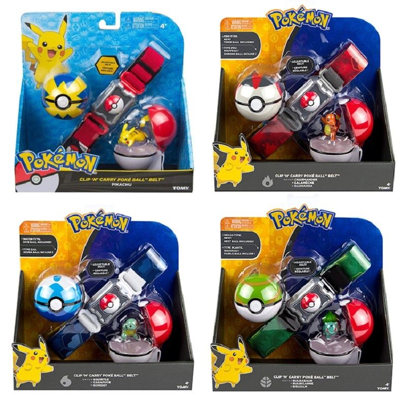 AliExpress - TOMY Pokemon Genuine  Elf Ball Belt Pikachu Pokeball Pocket Monster Variant ModelToy Set cosplay Action Figure Model Kids Toy
