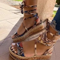 women sandals serpentine platform wedge female casual high increase shoes ladies fashion ankle strap open toe sandals nvlx78
