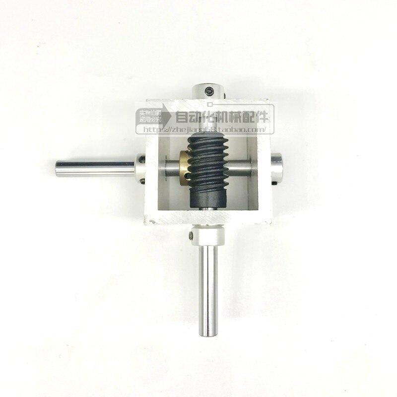 Redutor de Caixa de Velocidades em Miniatura Caixa de Velocidades Detector de Canto Redutor de Engrenagem Worm Gear Graus Reverter 1:10 1:20 Ângulo Direito 90