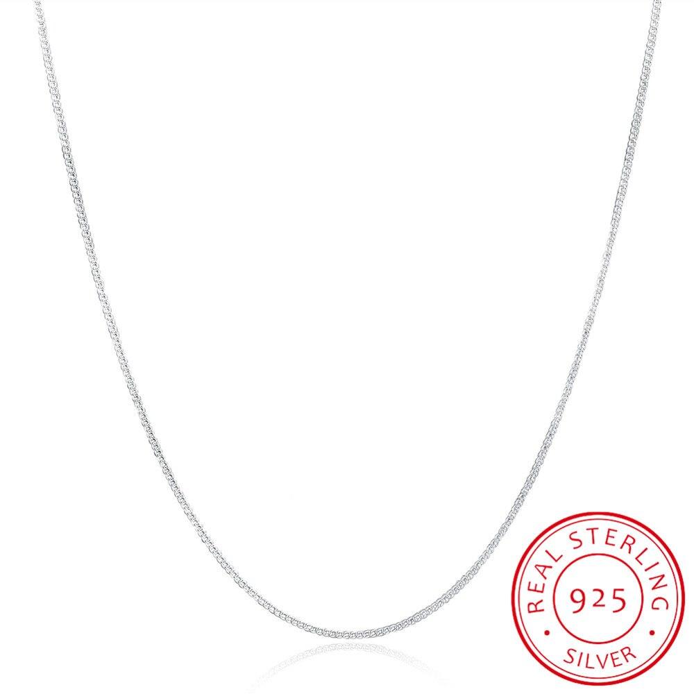 Ожерелье-женское-и-детское-из-серебра-925-пробы-с-боковой-цепью-2-мм-16-30-дюймов-40-75-см