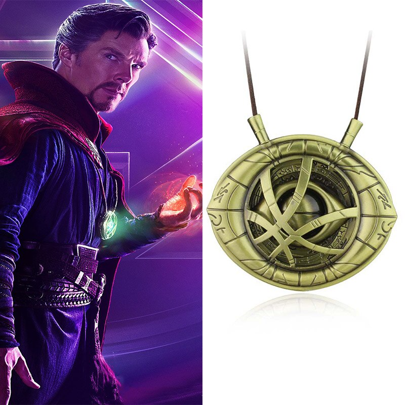 Vingadores doutor whotime pedras colar chaveiro figura modelo brinquedos doutor estranho olho de agamotto colar