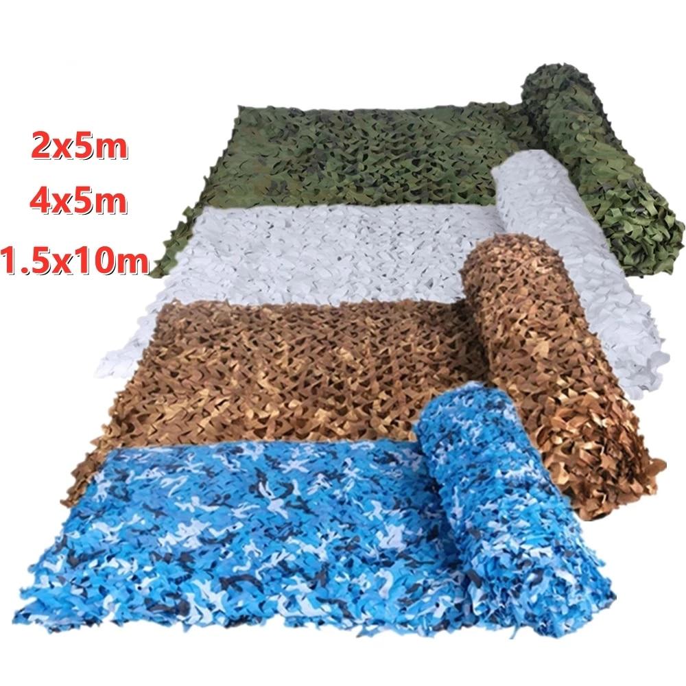 Камуфляжные садовые сетки в стиле милитари, белые, синие, бежевые камуфляжные сетки в стиле милитари, материал Оксфорд из полиэстера, Маскир...