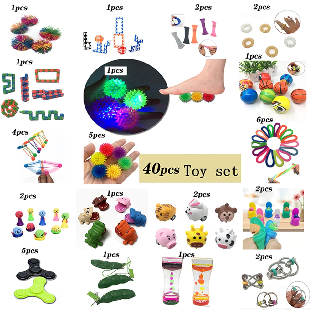 New Assembling Toy Combination 40 Pieces Extrusive-Solving Fidget Kids Hot Selling Various Styles Wholesale