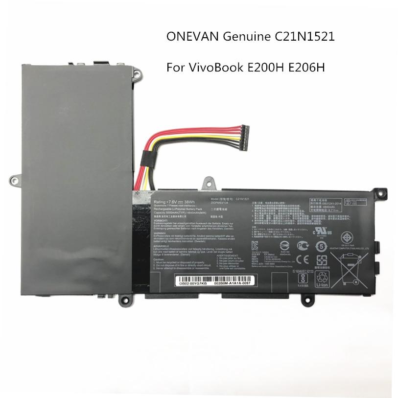 ONEVAN حقيقية C21N1521 بطارية كمبيوتر محمول ل Asus VivoBook E200HA E206H E200H E200HA-1A E200HA-1B C2IN1521 7.6V 38Wh