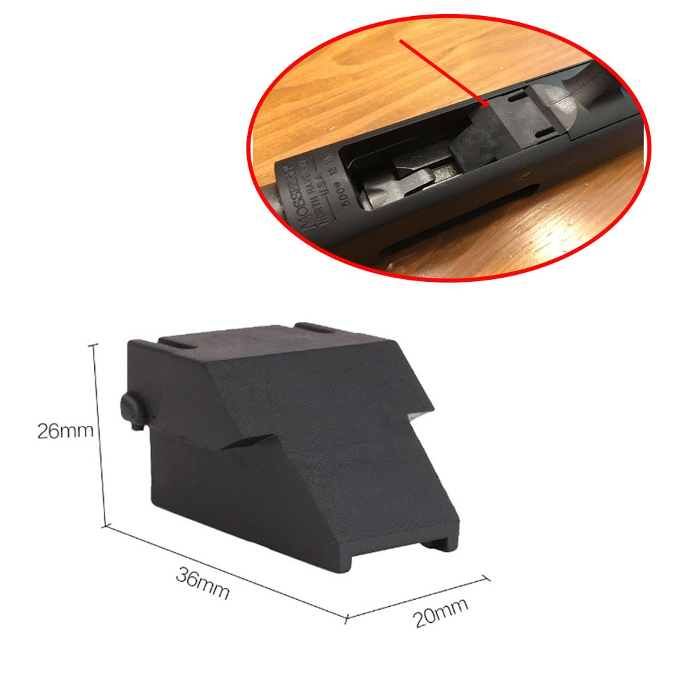 "Tactical 1.75"" Mini-Clip Minishell Adapter for OPSol 12ga Mossberg 500 590 590A1 & Maverick 88 Model Hunting Accessories"