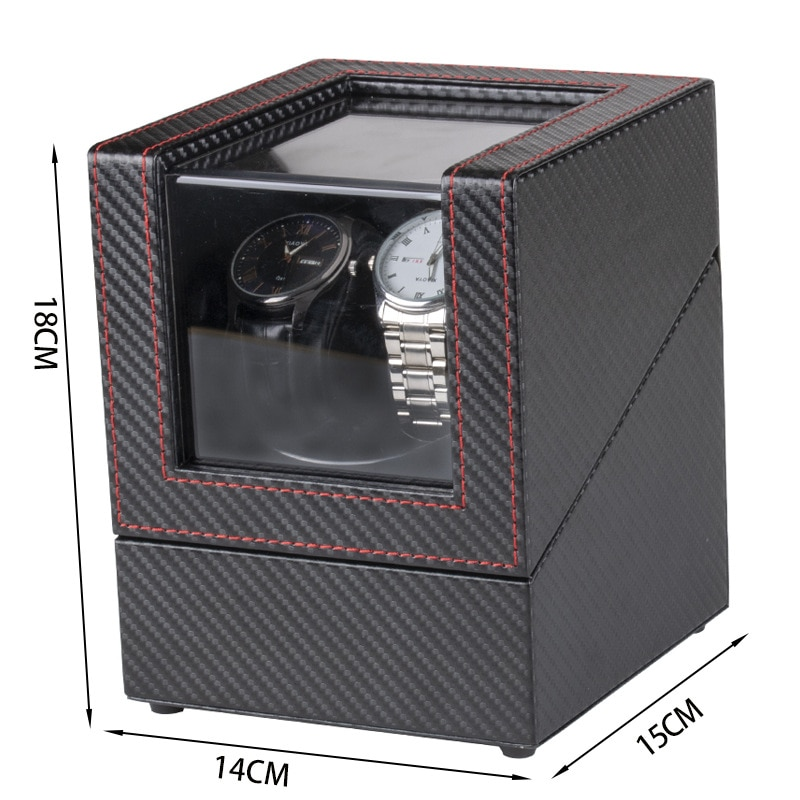 New PU Watch Shaker Winder Holder Display for Automatic Mechanical Watches Watch box Double Watches Storing Box USB Charging enlarge