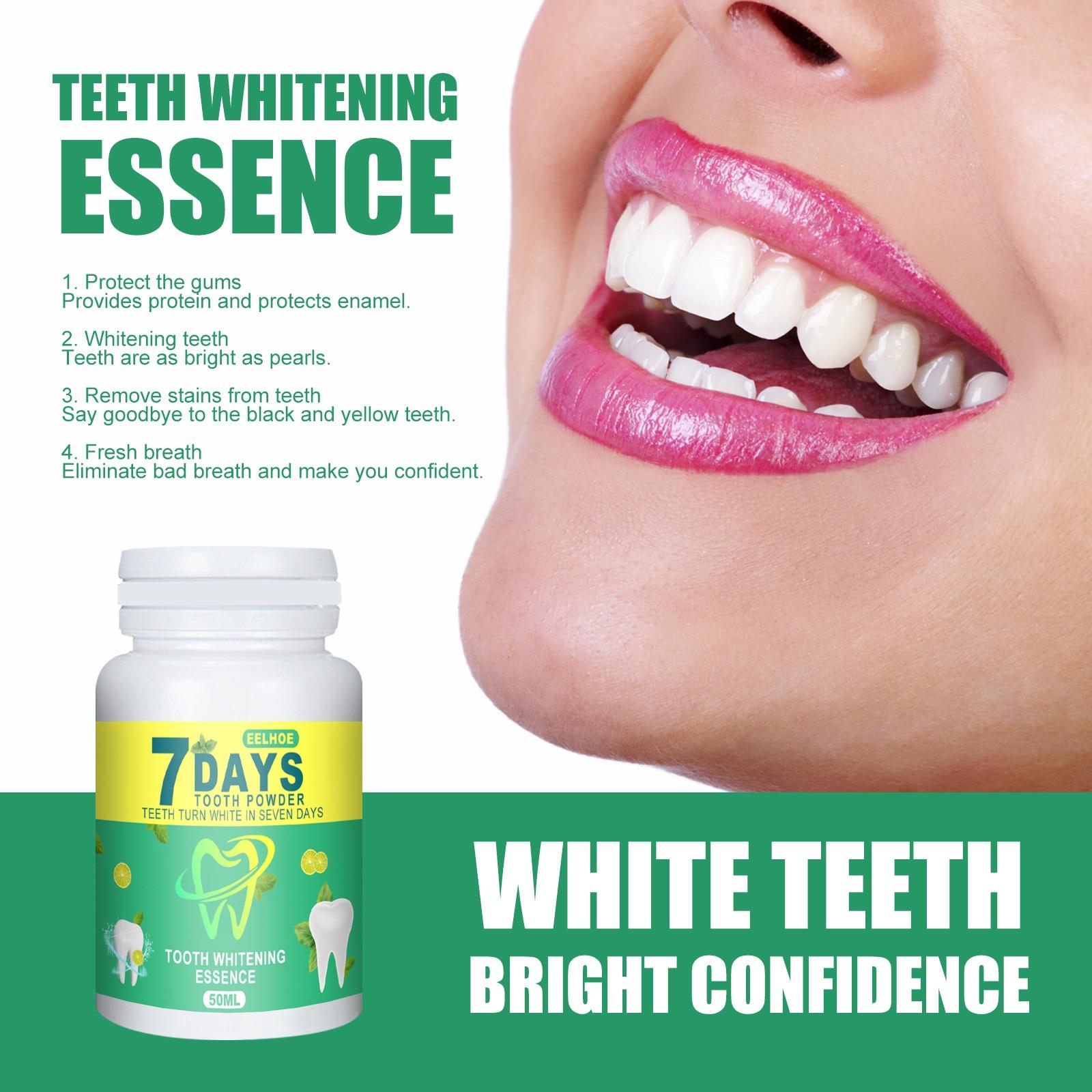 EELHOE отбеливание зубов порошок Чистая гигиена полости рта отбеливать зубы удаление зубного налета пятна свежее дыхание гигиена полости рта ...