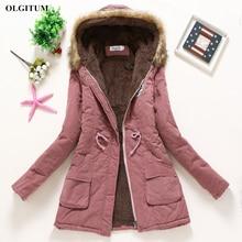 Winter women coat 2019 Women's Parka Casual Outwear Military Hooded fur Coat Down Jackets Winter Coat for Female CC001