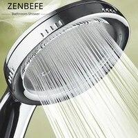ZENBEFE     pommeau de douche chrome avec buse pressurisee  ABS  accessoires de salle de bain  haute pression  economie deau  pluie  1 piece