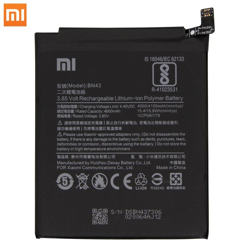 Original Xiaomi Redmi Note 4X / Note 4 global Snapdragon 625 Phone batteries BN43 4100 mAh Free Tools Phone Battery AKKU enlarge