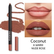 12 Colors Waterproof Matte Lip Liner Cosmetics  Long Lasting Sexy Moisturizing Lipstick Women Brown