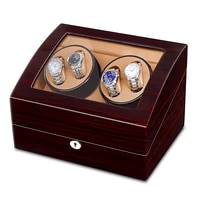 jqueen 4 automatic ebony watch winder with 6 storage case baking finish 5 modes for mechanical watch