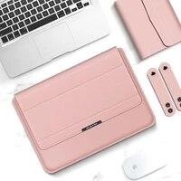laptop sleeve case bag for macbook air pro m1 13 a2338 a2337 pu leather laptop carry sleeve for 12 13 13 3 16 leather sleeve bag