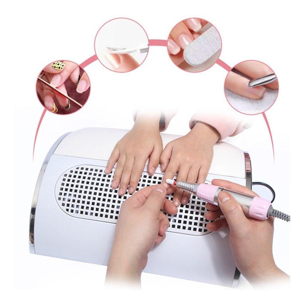 Vacío Cleane tamaño portátil Super tranquilo de succión colector de polvo de gran tamaño fuerte uñas de vacío de la máquina limpia salón herramienta