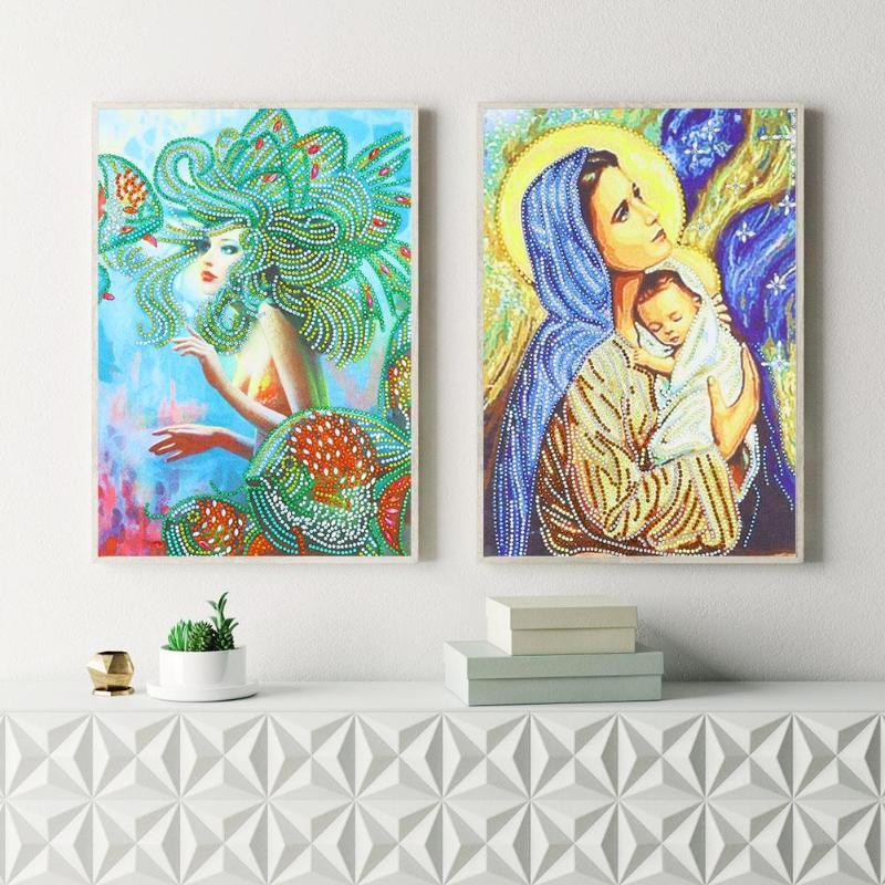 5D DIY Алмаз особенной формы живопись Красота вышивка крестиком Мозаика наборы стены Artsr нет цвет порошок для экспорта инспекции стандарт